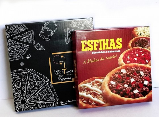 Caixa de Delivery para Esfiha Santana - Caixa Comida Delivery