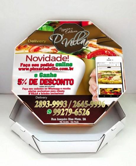 Embalagem de Pizza Personalizada Preço Vila Prudente - Embalagem de Pizza