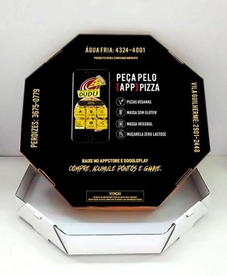Embalagem para Pizza Personalizada Preço Embu Guaçú - Embalagem Caixa de Pizza