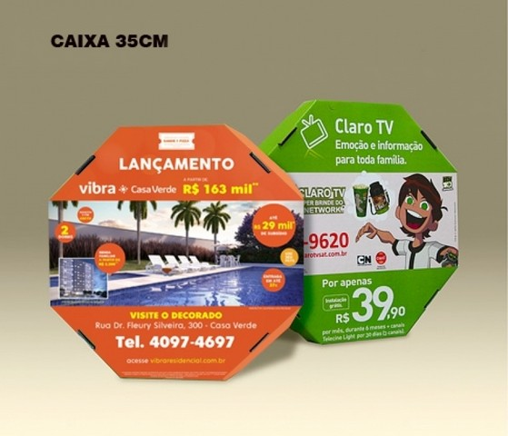 Embalagem para Pizza Brasilândia - Embalagem de Pizza Brotinho