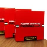 caixa de pizza quadrada Jardim Maria Helena