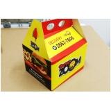 caixa hambúrguer personalizada preços Jardim Aracília