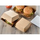caixas delivery hambúrguer Parque Peruche