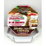 embalagem de pizza personalizada preço Belém