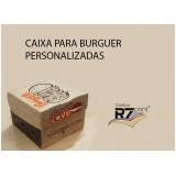 venda de caixa hambúrguer personalizada Belém