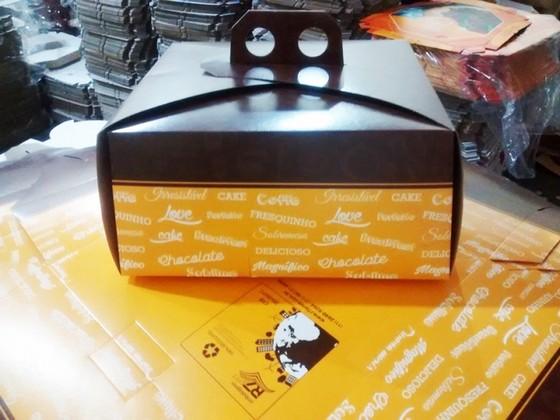 Venda de Caixa Bolo Personalizada Limão - Caixa Lanche Personalizada